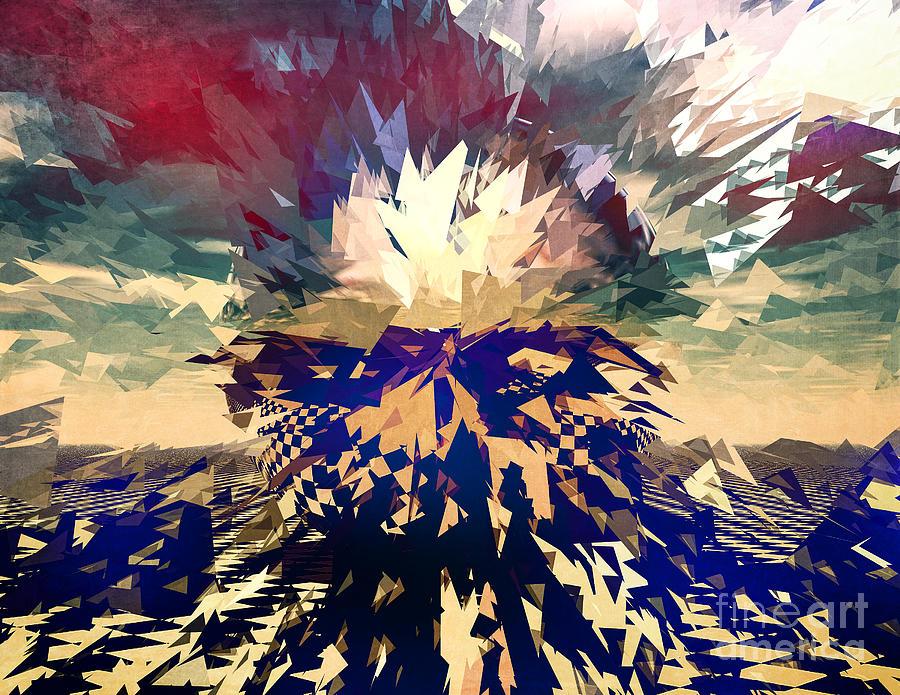 Three Dimensional Digital Art - Shattered by Phil Perkins