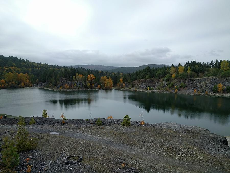 Shawnigan Lake Photograph - Shawnigan Lake quarry by Jordan Barnes