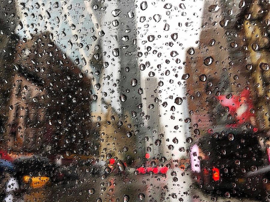 She Thinks Rain Drops New York by Tony Rubino