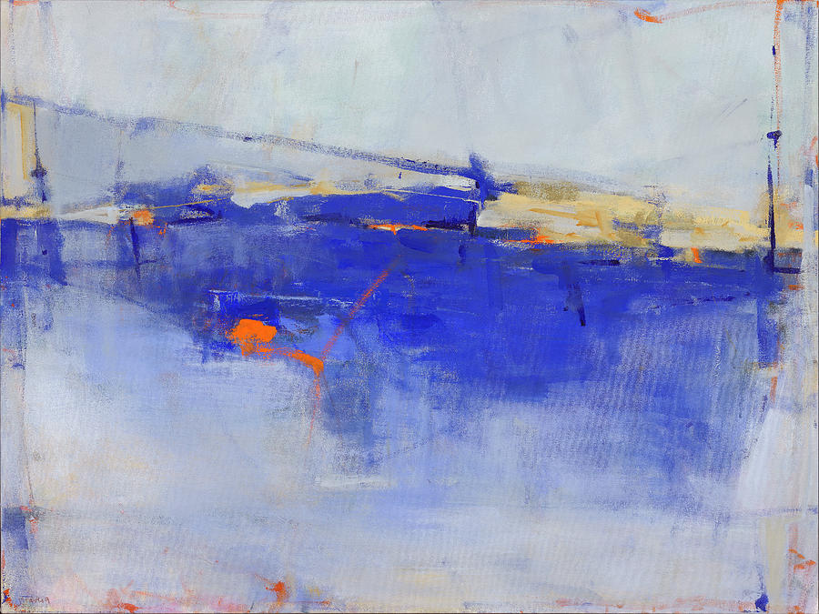 Abstract Painting - She Will Walk on Water by Jacquie Gouveia