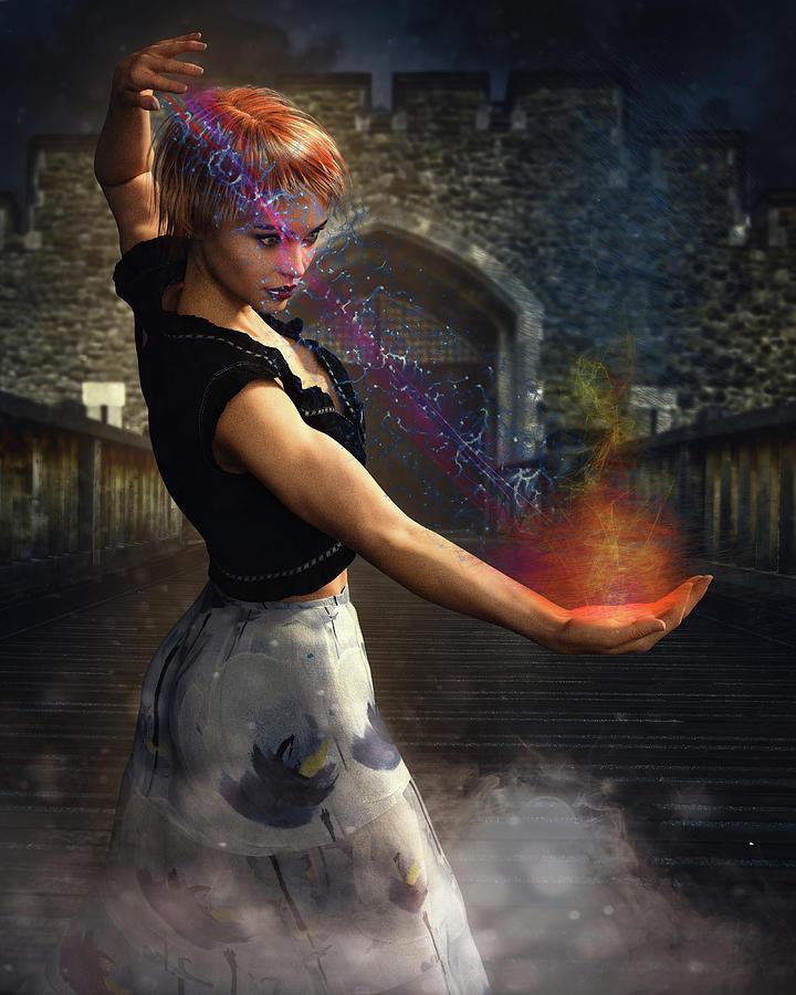 Magic Digital Art - She Works Magic by Charlie OBrien
