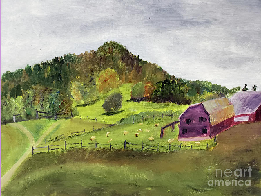Sheep Farm in Vermont by Donna Walsh