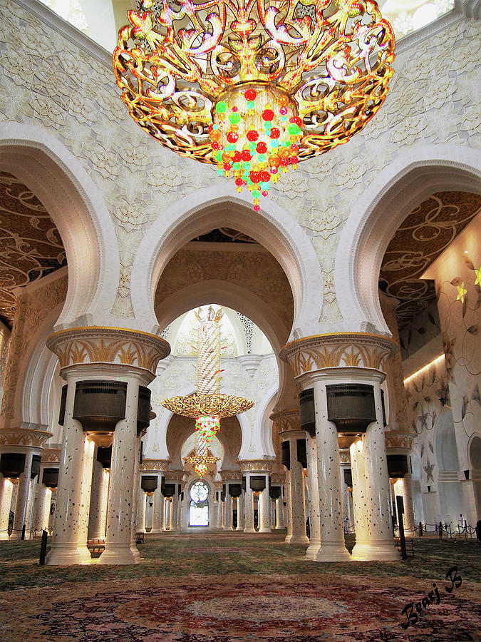 Sheikh Zayed Grand Mosque 3 by Bearj B Photo Art