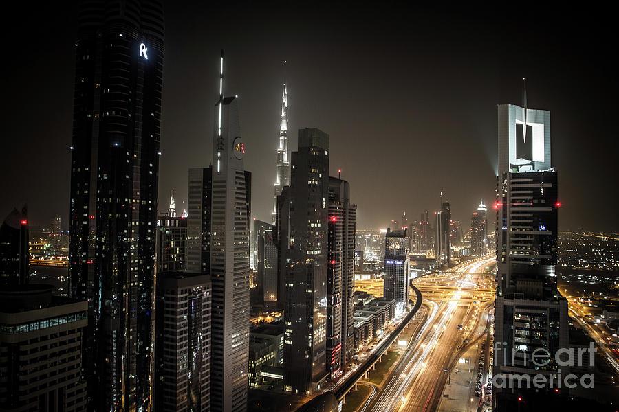 Sheikh Zayed Road In Dubai Photograph