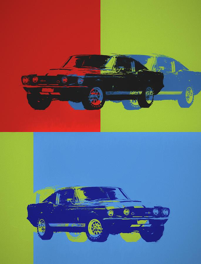 Shelby Mustang Pop Art by Dan Sproul