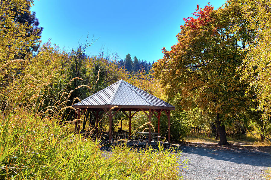 Shelter at Phillips Farm Park by David Patterson