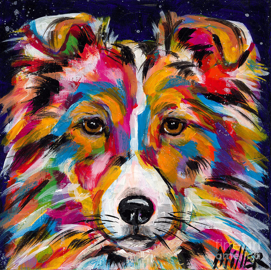 Tracy Miller Painting - Sheltie by Tracy Miller