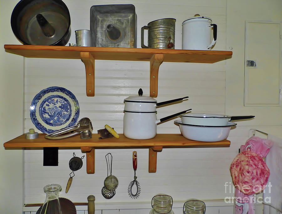 Shelves In The Kitchen by D Hackett