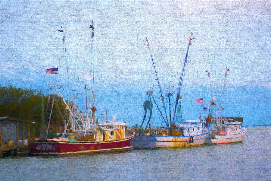 Shem Creek Boats V by Jon Glaser