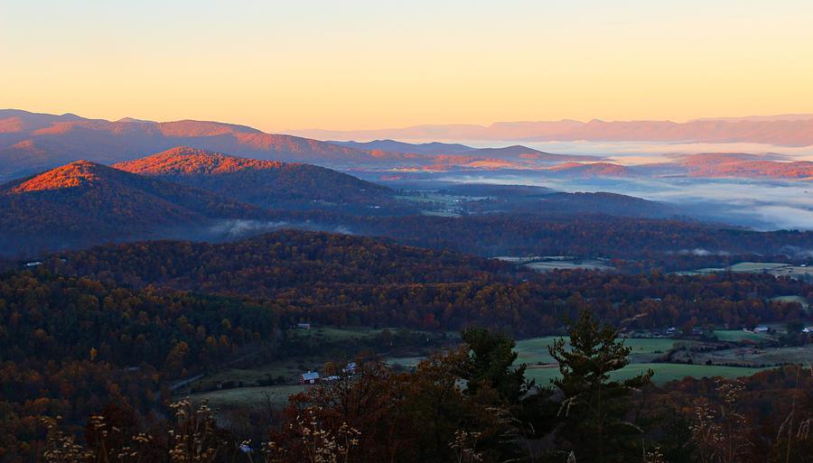 Autumn Photograph - Shenandoah Mountains by Candice Trimble