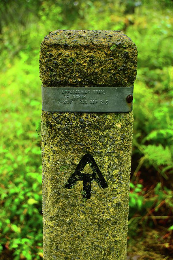 Shenandoah NP AT Trail Marker by Raymond Salani III