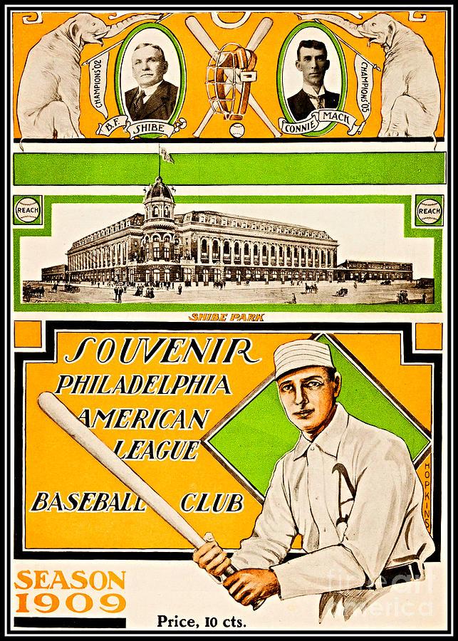 26857e49c8b1e Shibe Park Grand Opening Philadelphia Athletics 1909 Painting by ...