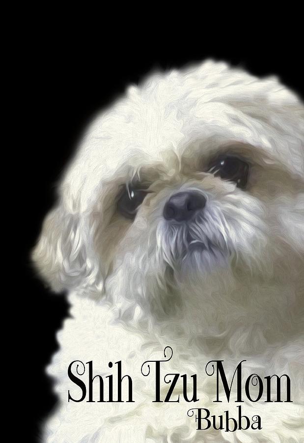 Shih Tzu Photograph - Shih Tzu For Mom-bubba by Ericamaxine Price