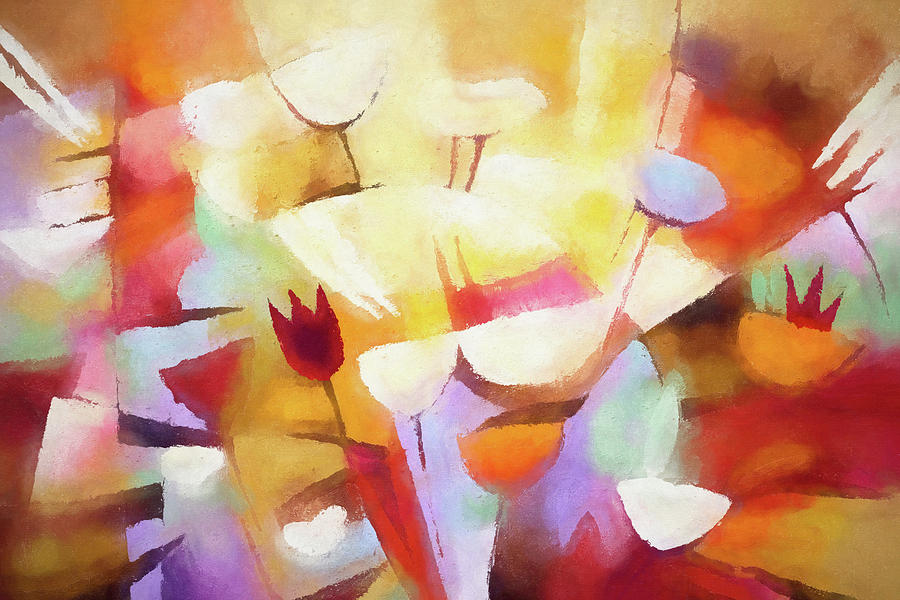 Shining Painting - Shining Floral by Lutz Baar