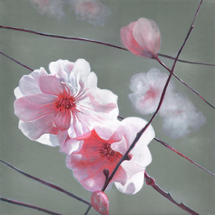 Blossom Painting - Shining start by Helen White