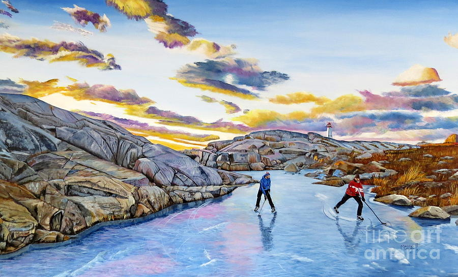 Shinny at Rock Pool Pond by Marilyn McNish