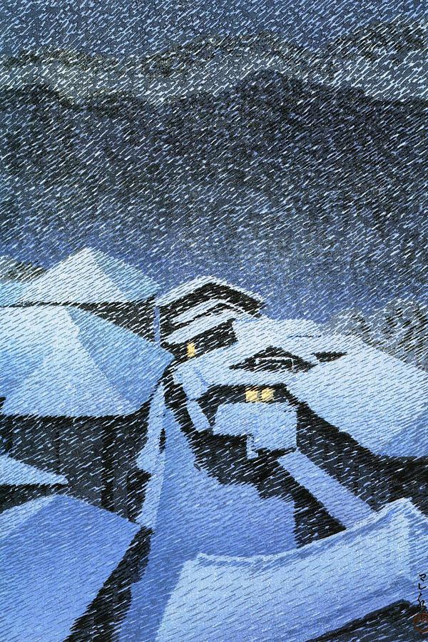 Ukiyoe Painting - Shiobara Hataori - Digital Remastered Edition by Kawase Hasui