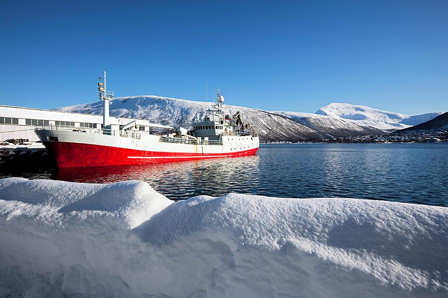 Ship At Tromso Photograph by Nicolamargaret