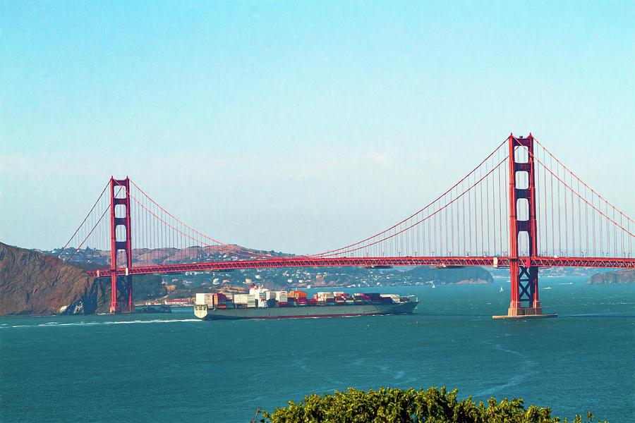 Ship Entering The Golden Gate by Bonnie Follett