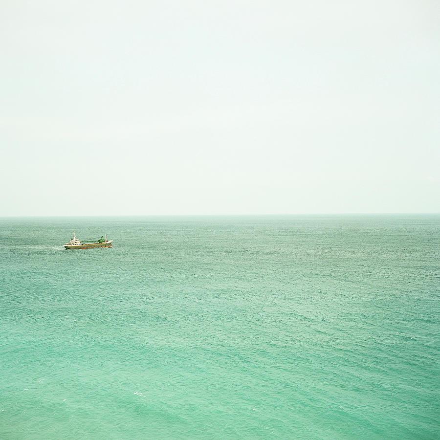 Ship In Sea Photograph by Yasushi Okano