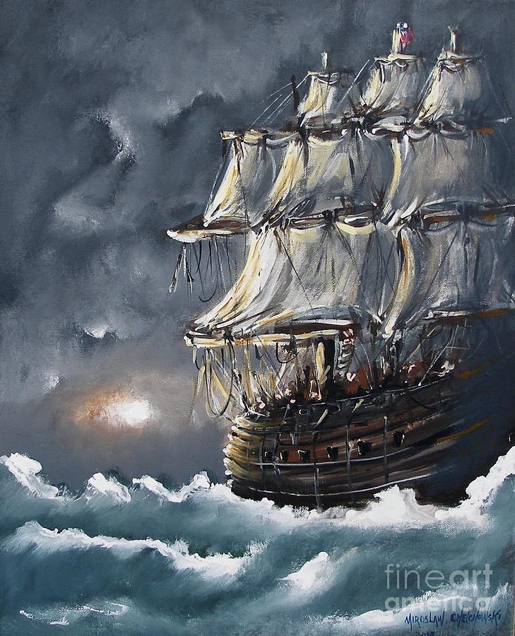 ship voyage by Miroslaw  Chelchowski