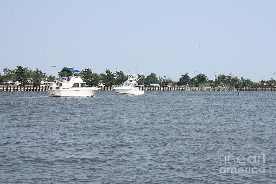 SHIPS CROSSING IN THE BAY by JOHN TELFER