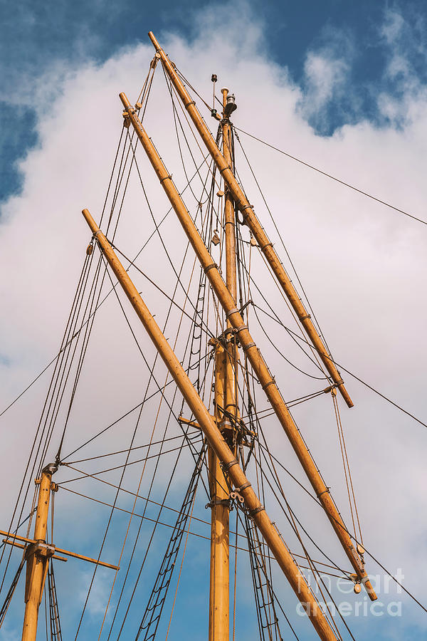 Ships mast and rope by Sophie McAulay