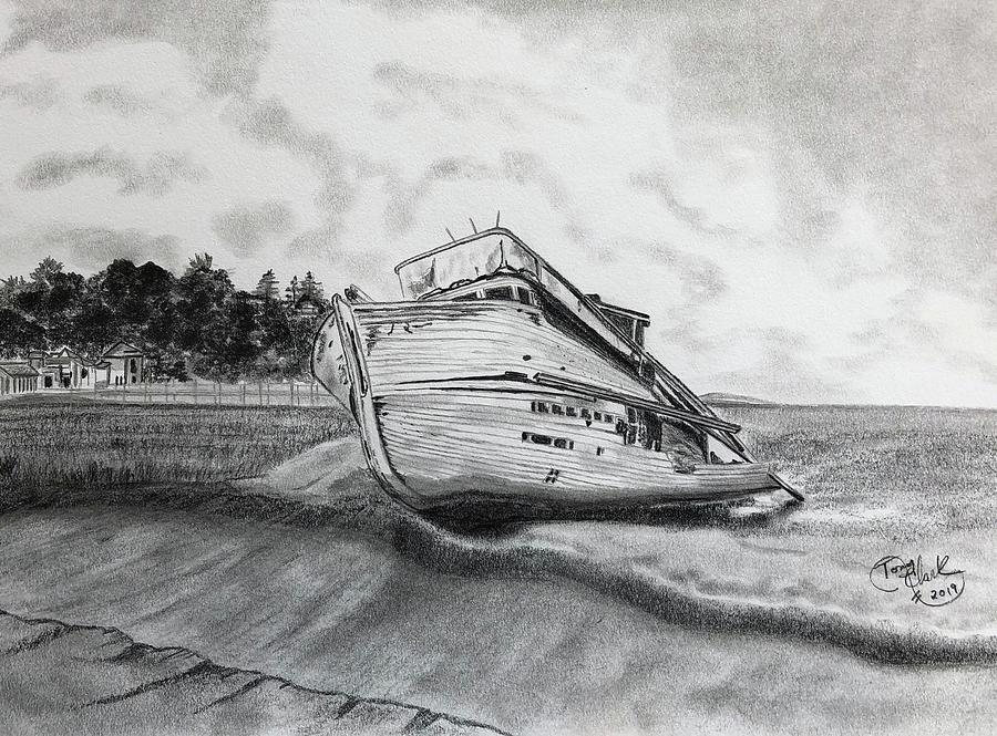Shipwreck at Inverness  by Tony Clark