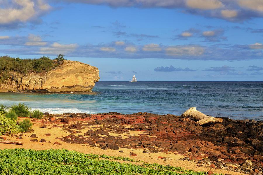 Shipwreck Rock Poipu by James Eddy