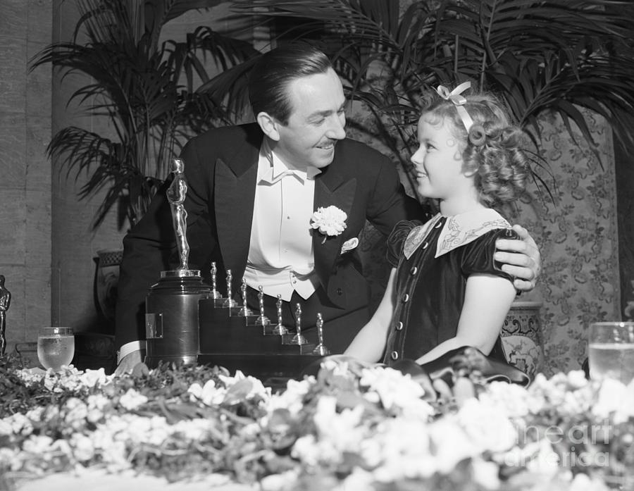 Shirley Temple And Walt Disney Photograph by Bettmann