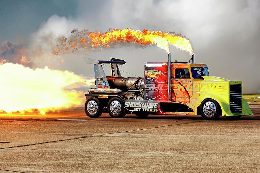 Shockwave Jet Truck - NHRA - Peterbilt Drag Racing by Jason Politte