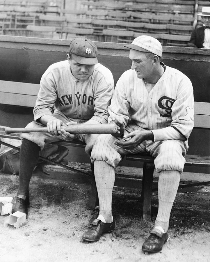 Shoeless Joe Jackson And Babe Ruth Photograph by New York Daily News Archive