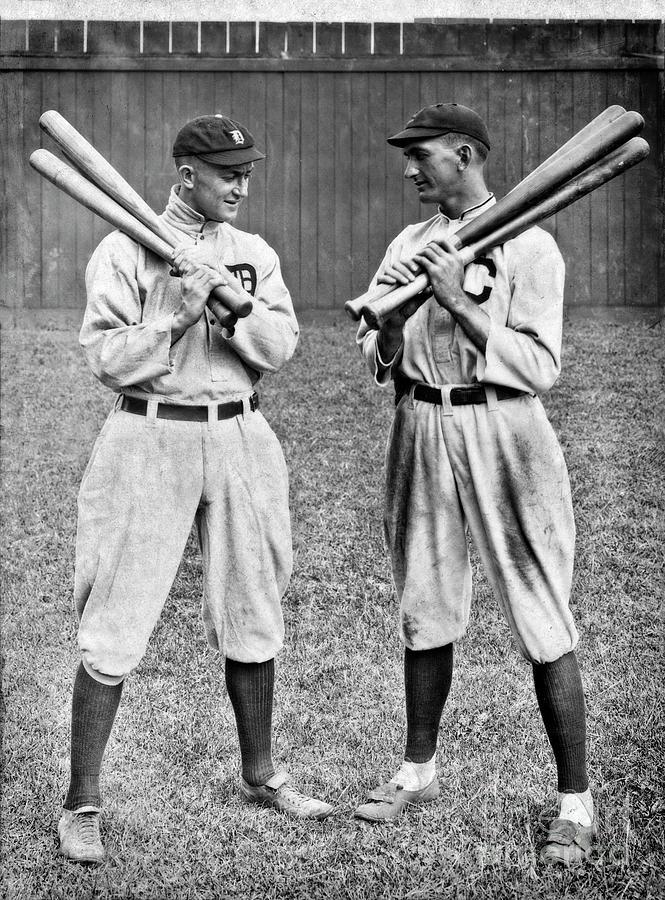Shoeless Joe Jackson and Ty Cobb - circa 1913 by Doc Braham