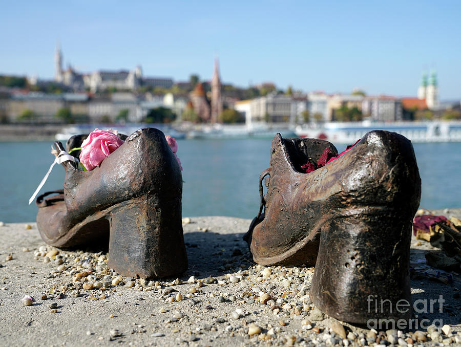 Shoes On The Danube Bank Photograph