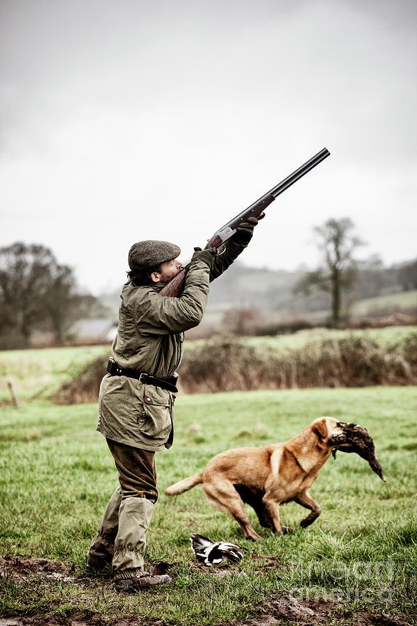 Shooting Duck, Gundog Retrieves Photograph by Urbancow