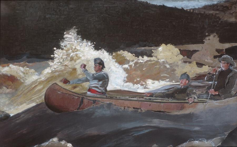 Saguenay River Painting - Shooting The Rapids by MotionAge Designs