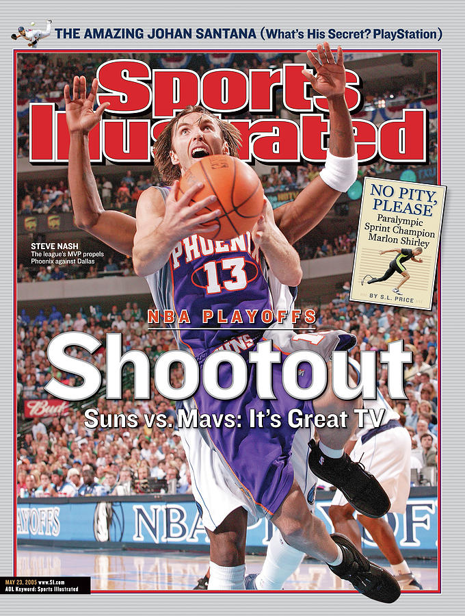 Shootout Nba Playoffs, Suns Vs. Mavs Its Great Tv Sports Illustrated Cover Photograph by Sports Illustrated