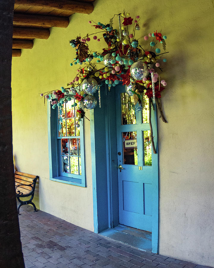 Shop in Santa Fe Plaza by Mary Courtney