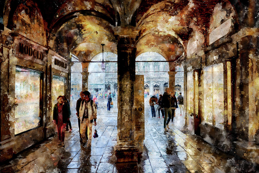 Shopping area of Saint Mark Square by Eduardo Jose Accorinti