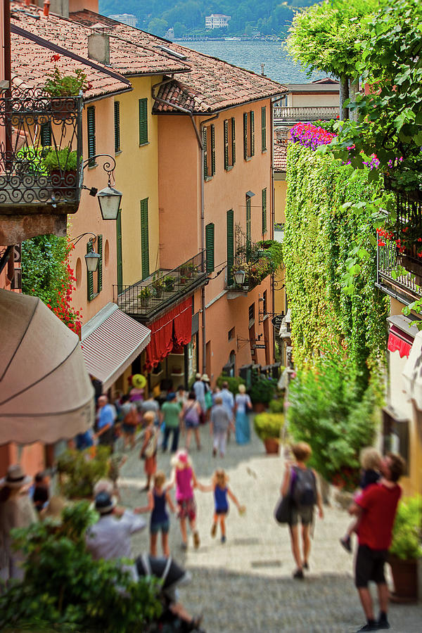 Shopping Street Bellagio Italy Photograph by Melinda Moore