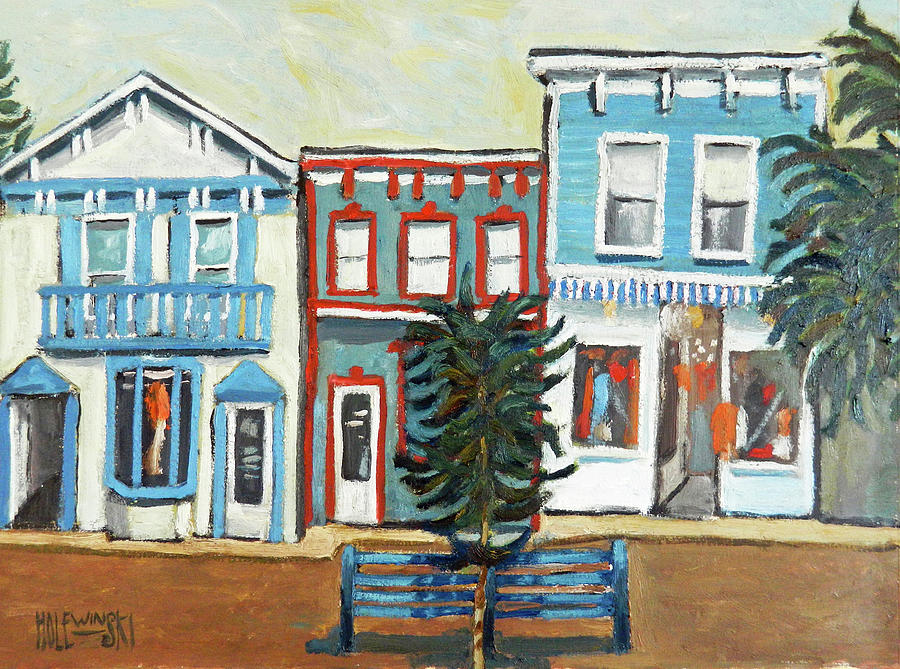 Cape May Painting - Shops in Cape May by Robert Holewinski