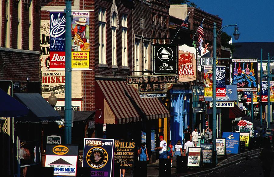 Shops On Beale Street, Memphis, United Photograph by Richard Ianson