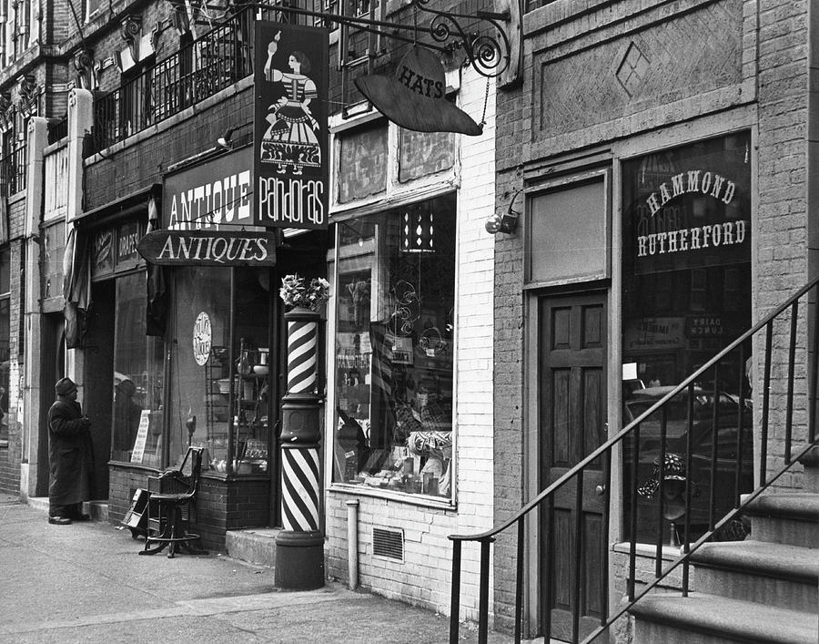 Shops On St Marks Place Photograph by Fred W. McDarrah
