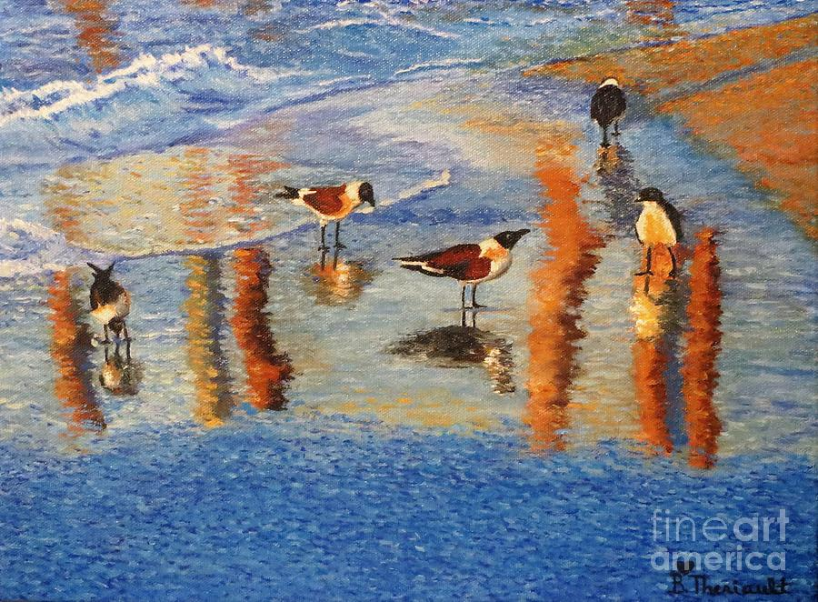 Shore Birds by Beverly Theriault