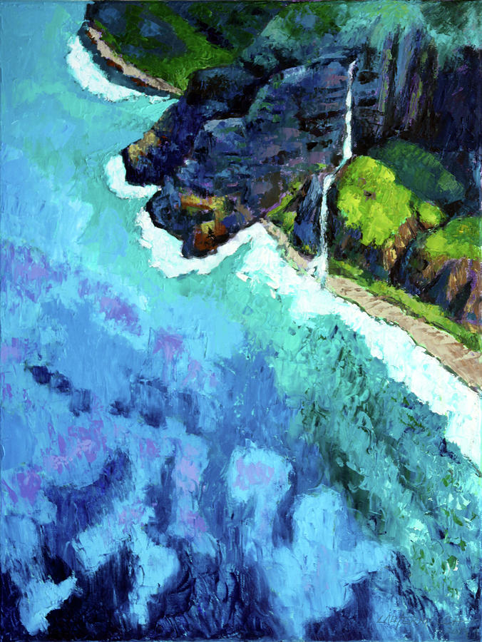 Shoreline Painting - Shore Line by John Lautermilch