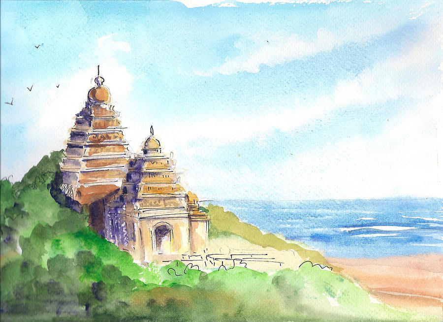 Shore Temple by Asha Sudhaker Shenoy