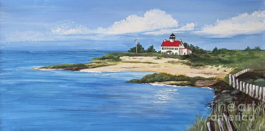 Shoreline at East Point Lighthouse  by Nancy Patterson