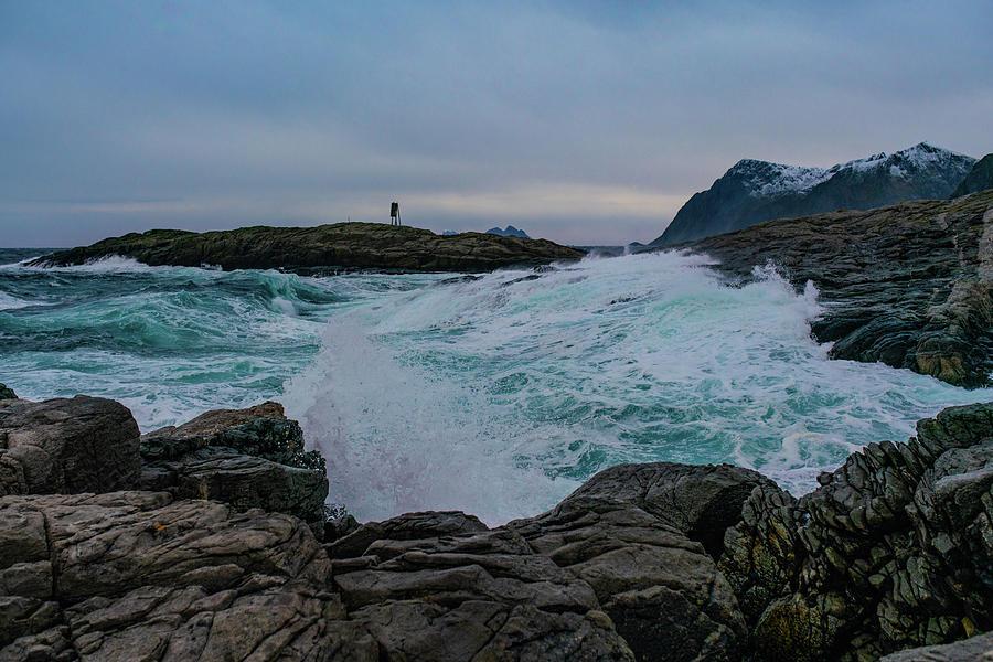 Sea Photograph - Shoreline by Kai Mueller
