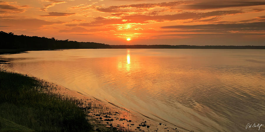 Beaufort County Photograph - Shoreline Sunset by Phill Doherty