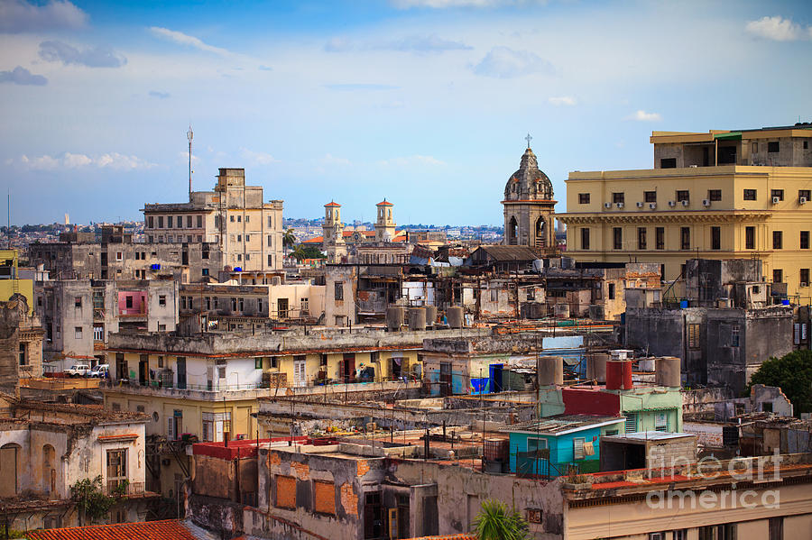 City Photograph - Shot Of Old Havana City, Cuba by Andrey Armyagov